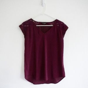 XS Express Maroon Top Red